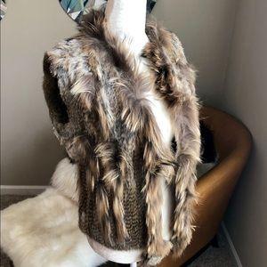 Love Token - Brown Rabbit Fur Vest